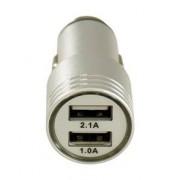 LC-POWER Adaptateur allume-cigare vers 2 ports USB - 5V 2.1A - ALU