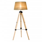 HOMCOM Classic Tripod Floor Lamp, Adjustable Height-Cream White