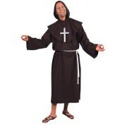 Pater kostuum Deluxe bruin