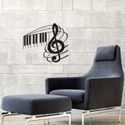 Sticker decorativ de perete Sticky, 260CKY1051, Negru
