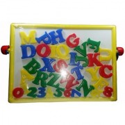 2 in 1 Magnetic Educational Board with Alphabets Numbers (multicolor)