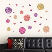 Walltola Wall Sticker-Flower Pattern Motifs 6922 (Finished Size 140cm x 90cm)