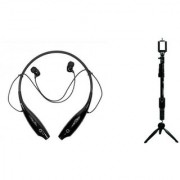 HBS 730 bluetooth headset and YT 9928 Camera Tripod|K101 Neckband bluetooth headset | Stereo Music Earphone Bluetooth Headset with Mic