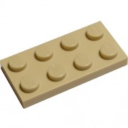 LEGO Bulk Parts: 2 x 4 Plate, Tan (PACK of 50)