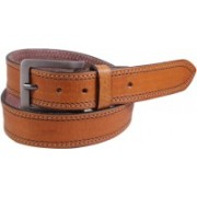 Lens Men Casual Brown Genuine Leather Belt