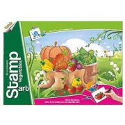 Ratna's Toyztrend Educational Art & Craft Stamp Art Vegetable Small With 6 Different Vegetable Stamps For Kids Ages 4+