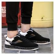 Nueva Zapatos Planos Zapatillas Tennis Casuales Corrida Calzado Deportivo -Negro Y Blanco