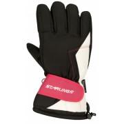 Starling Skihandschoenen 0408 Unisex Zwart/Roze/Wit Maat 11