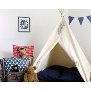TPK Teepee Heavy Canvas Teepee Play Tent Large Play Tee Pee Closes Completely Secret Hiding Place Heavy Fabric Fort Wigwam Playhouse