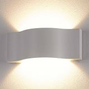 Lampenwelt.com Très belle applique d'extérieur LED Jace blanche - LAMPENWELT.com