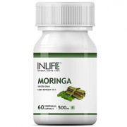 Inlife Moringa Leaf Extract Supplement 500 mg - 60 Vegetarian Capsules