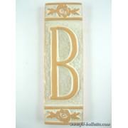 Numero civico ceramica con fiore bianco nfb12
