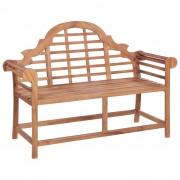 vidaXL Bancă de grădină, 136 x 63 x 102 cm, lemn masiv de tec