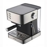 Espresor Heinner HEM-B2016BKS, optiuni preparare: espresso si spuma de lapte, capacitate rezervor apa detasabil: 1.6L, pompa de presiune: 20 bar, filtru dublu din inox, tavita de scurgere detasabila, plita mentinere cafea calda, protectie supraincalzire,