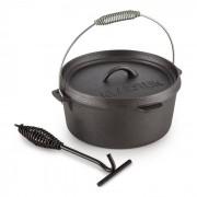Klarstein Hotrod 85 Olla de hierro Olla de BBQ 9 qt / 8,5 L Hierro fundido negro (COOK4-Hotrod-85)