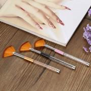 3pcs Nail Art Brushes DIY Professional Tools Nylon Brush Hair 3 Colors Acrylic UV Gel Builder Painting Drawing Desigh Pen Polish Brush Kit