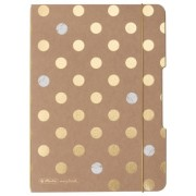 Caiet My.book Flex A5, 40 file, patratele, Pure Glam, elastic auriu Herlitz