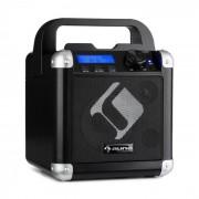 Auna BC-1, karaoke systém, bluetooth, batéria, držadlo, USB, AUX vstup, čierny (PAS3-BC-1)