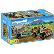 Playmobil 4832 Wild African Life Set Rangers Vehicle with Rhino