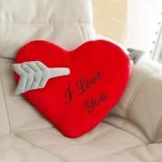 Perna Inima cu Sageata, I Love You, 35 cm