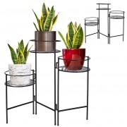 Kwietnik metalowy stojak podstawa 3x doniczka