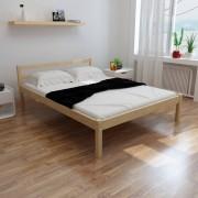 vidaXL Pat cu saltea 140 x 200 cm, lemn de pin masiv
