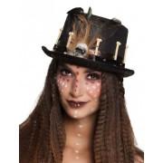 Vegaoo Zwarte voodoo hoge hoed voor volwassenen One Size