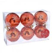 Украшение СИМА-ЛЕНД Набор шаров Снегопад 6шт Orange 2178202