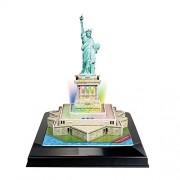 Frank Puzzles Led Architecture - Statue of Liberty 3D, Multi Color (37 Pieces)