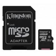 . 128GB class 10 Kingston (MicroSDHC med SDHC adapter) - Minneskort
