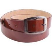 Lens Men Casual Brown Genuine Leather Belt
