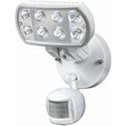 Nagyteljesítményu LED-lámpa L801 PIR IP55 infravörös mozgásérzékelovel 8x1W 850lm fehér Energiahatékonysági osztály A