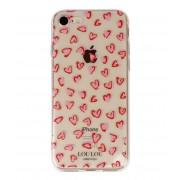 LouLou Essentiels Smartphone covers Cute Case Hearts iPhone 7 Roze