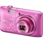 Nikon Aparat COOLPIX S3600 Różowy (z ornamentem)
