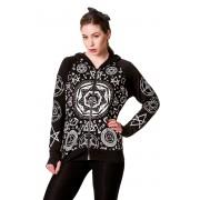 kapucnis pulóver női - Pentagram - BANNED - HBN044