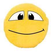 Soft Smiley Emoticon Yellow Round Cushion Pillow Stuffed Plush Toy Doll (Smiles)