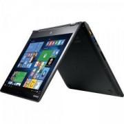 Лаптоп LENOVO YG700-14ISK /80QD009FBM, 14 инча FHD, Intel Core i7-6500U, 4GB, 500GB + 8GB Flash, NVIDIA GeForce 940M, Черен