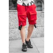 Pantaloni Scurti EX Bretele Rosu