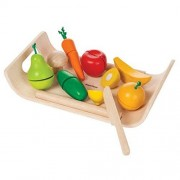 Plan-Toys Assorted Fruits And Vegetables (Solid Wood Version)