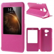 Wigento Booktasche fönster rosa för Huawei honor 8