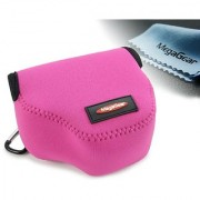 MegaGear Ultra Light Neoprene Camera Case Bag with Carabiner for Canon PowerShot SX510 SX420 IS SX410 IS SX400 (Magen