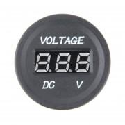 12 V-24 V CC Pantalla Digital LED Auto Voltímetro Impermeable De Metro -Neg