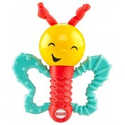 Fisher Price Baby Shake and Giggle Teething Giggling Butterfly by Mattel