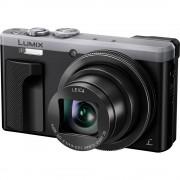 Digitalna kamera DMC-TZ81EG-S Panasonic 18 mil. piksela optički zum: 30 x srebrne boje/crne boje WiFi, Full HD video, dodirni za