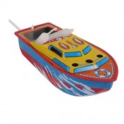 MagiDeal Pop Pop Boat Tin Toy Floating Steam/Candle Powered Collectible Put Put Boats