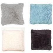Catherine Lansfield Cuddly Cushion Cover (45cm x 45cm) - Black