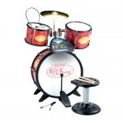 Set tobe pentru copii Rock Drummer Bontempi, 7 ritmuri, 14 melodii demo, microfon si scaun