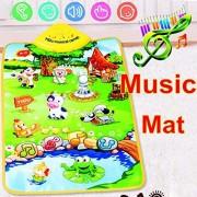 Carpet Kids Baby Farm Animal Musical Music Touch Play Singing Gym Carpet Mat Toy Gift