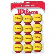 Set mingi tenis Wilson Starter Red, 12 buc