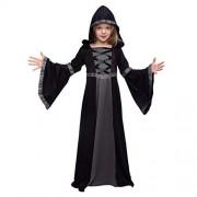 Spooktacular Creations Disfraz de Bata con Capucha para niñas Halloween, Negro, X-Large(12-14yr)